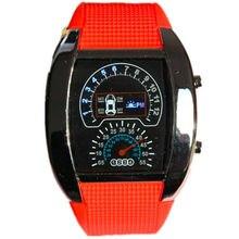 Новое поступление второго поколения авиационный дизайн светодиодные цифровые часы 6 цветов PU пластиковые армейские мужские спортивные часы самолет