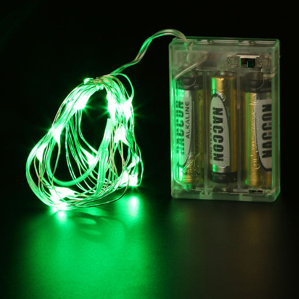 20pcslot 5m starry string lights waterproof decor wire rope lights green led string lights aloadofball Choice Image
