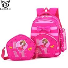 Baijiawei niños mochilas estudiantes mochila para niños niñas de la escuela primaria bolsas zip impermeable mochila mochila infantil