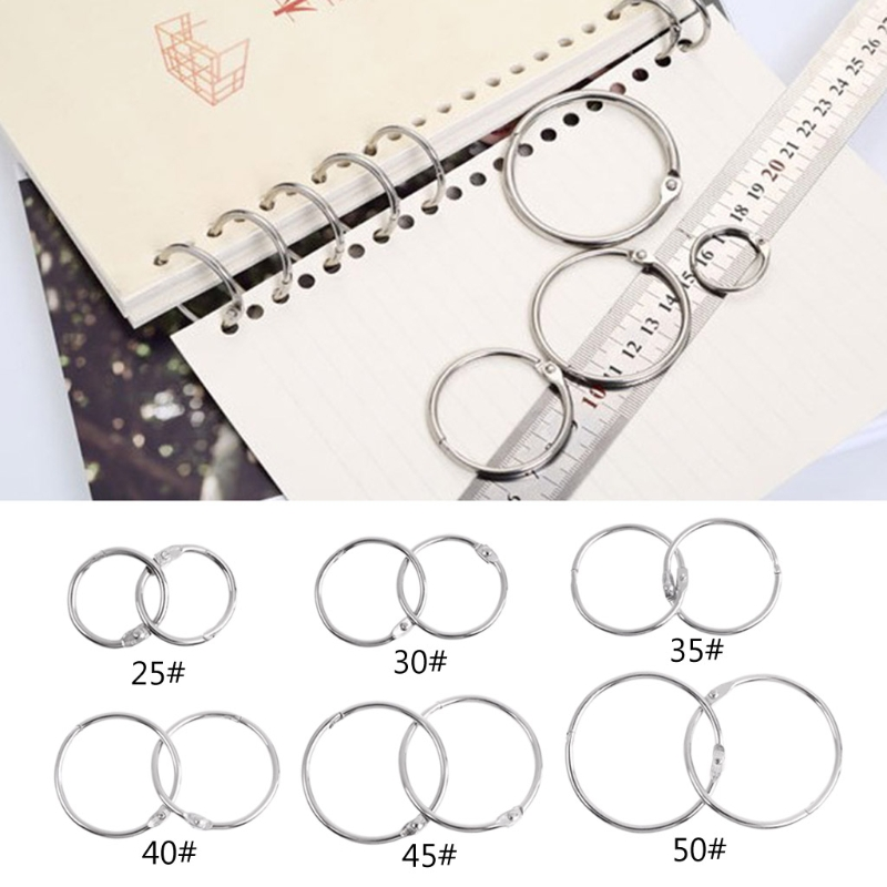 10pcs Metal Binder Ring Loose Leaf Book Binder Hoop Ring Multifunctional Keychain Circle Book Binder Hoop Office Binding Supply 2
