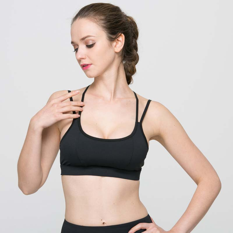 82852bbdd1 CALOFE Women Sexy Strappy Sports Bra Push Up Padded Yoga Tops Bra Fitness  Brassiere Woman Shockproof Workout Running Bra-in Sports Bras from Sports  ...