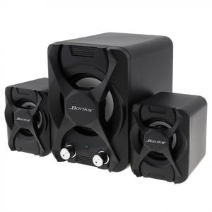 Image 2 - Bonks K2 altavoces Subwoofer con ajuste de bajos vigorosos y perilla de Control de volumen de frecuencia completa, color negro