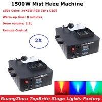 1500W LED Nebel Maschine 24X3W RGB 3IN1 LED Rauch Maschine Bühne Fogger Nebel Dunst Maschine Dj Ausrüstungen Disco Lichter DMX Musik Licht