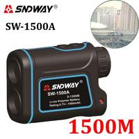 SNDWAY Laser Rangefinder Hunting Monocular Telescope 1500M Astronomic Golf Trena Laser Meter Distance Measure Speed Height