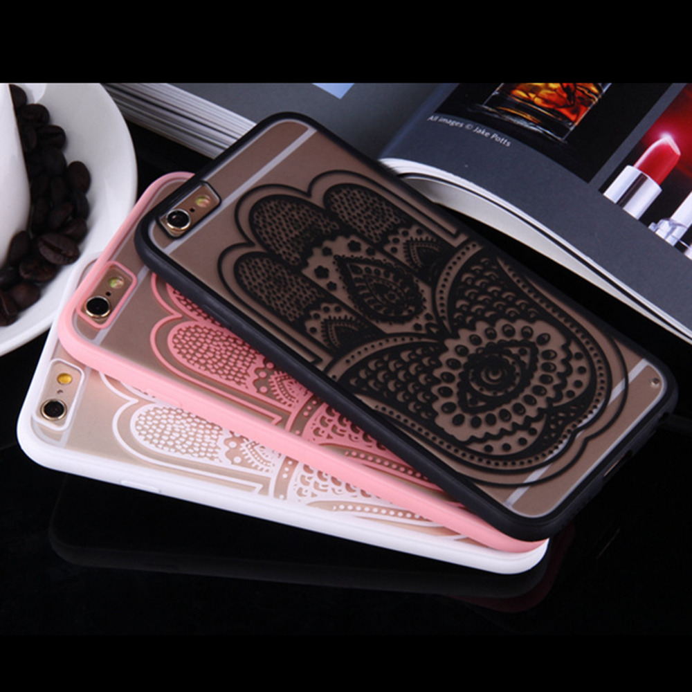 2018 New Religion Style Embossed Phone Case Lace Pattern Drop Resistance Embossed Phone Protective Cover for iPhone7plus