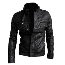 TFGS Mens PU Leather Short Jacket Coat