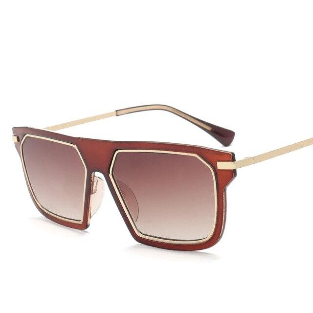5cd806e7df8a 2017 New Women Sunglasses Big PC Frame Brand Design Black Sun Glasses Luxury  Ladies Driving Beach Sunglasses