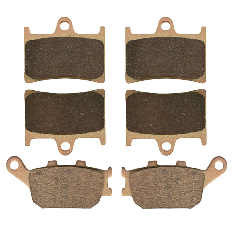 Motorcycle Parts Copper Based Sintered Motor Front & Rear Brake Pads For Yamaha FZ8 Single Headlight 11-15 YZF600 RRR/RRS  03-04 sintered copper motorcycle parts fa252 front brake pads for yamaha fzs 600 fazer 98 03