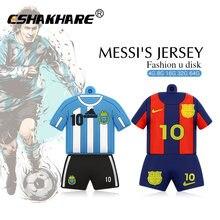 890824eb74 Barcelona Camisa de futebol Barca Messi pendrive usb flash drive GB 8 4 GB  GB 32