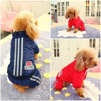Warm Winter Pet Dog Coat clothes Thick dog Jumpsuits Overalls for Dogs Small Dog Clothes Warm Pet Outfit Clothing 3