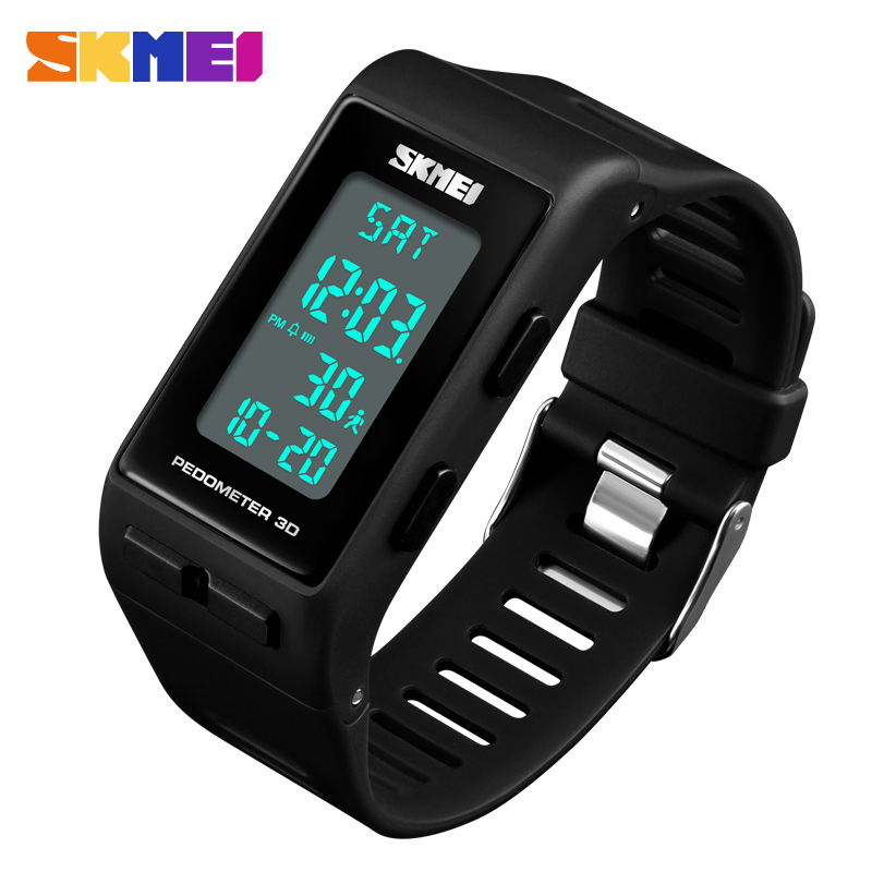 SKMEI Brand Mens Sports Watches Top Brand Luxury Pedometer Calorie Digital Watch Waterproof LED Electronic Wrist Watch Clock Men