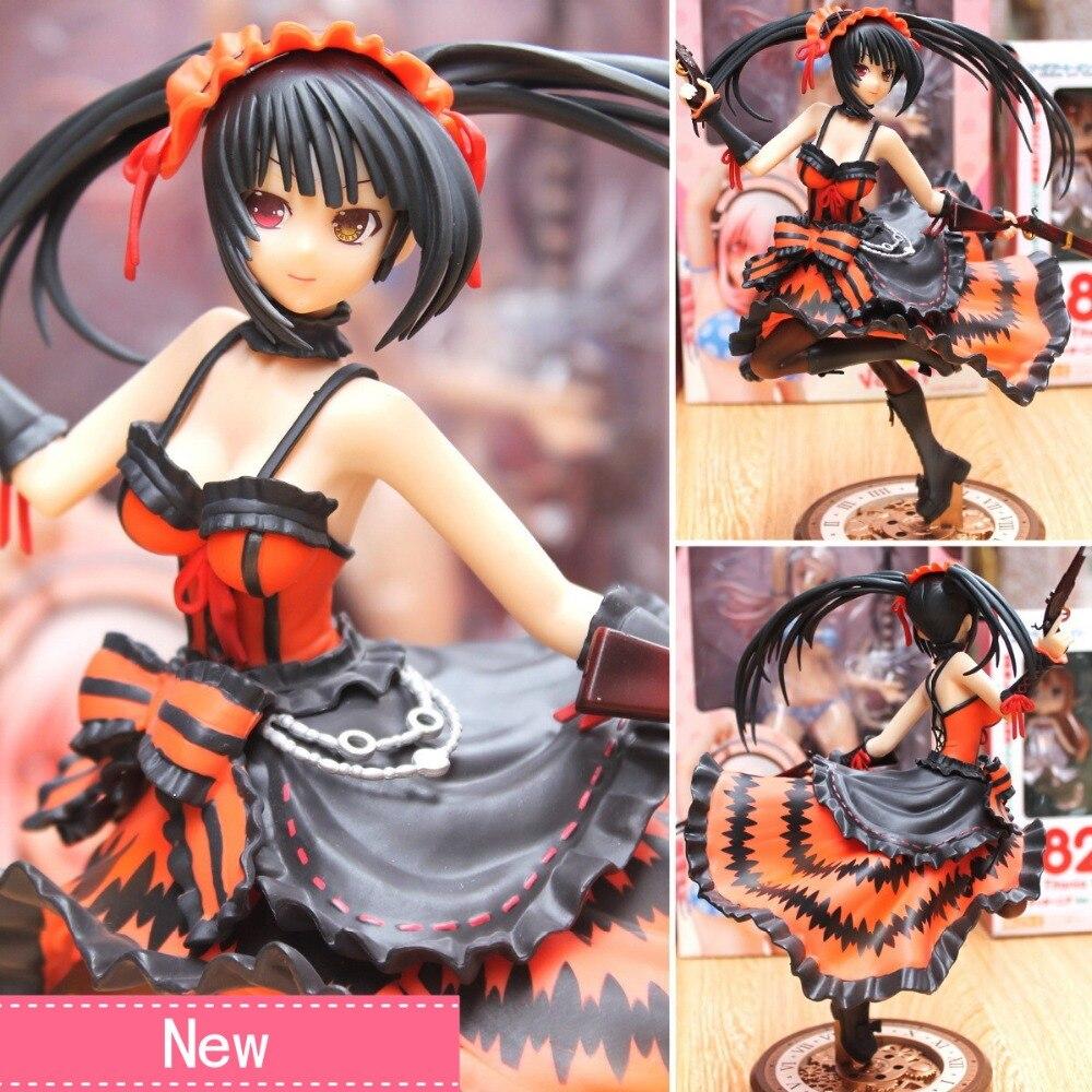 Anime Date A Live Tokisaki Kurumi Nightmare Pistol Ver PVC Action Figure Collectible Model doll toy 23cm все цены