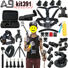 A9 for Gopro accessories set for Go pro 5 4 3 / SJCAM SJ4000 SJ9000 / Xiaomi yi 4k / mount for sports action camera with case