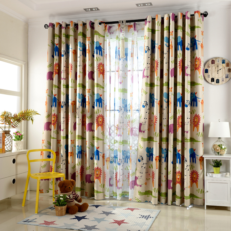 Cartoon Trees Curtains For Kids Boys Bedroom Blinds Linen: Cute Blackout Curtains For Living Room Curtains