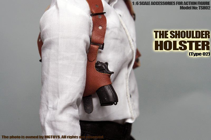 MGToys 1//6 Black Classic Shoulder Holster Chest Gun Hanging Accessory Toy