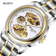 2019 Men's Watches Automatic Mechanical Hollow Fashion Brand Luxury Waterproof Stainless Steel Men Wristwatch Male Clock jargar brand automatic fashion dress wristwatch round dial mechanical watches with stainless steel band for men