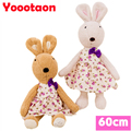 60cm bunny plush kids toys can be take off clothes le sucre rabbit dolls
