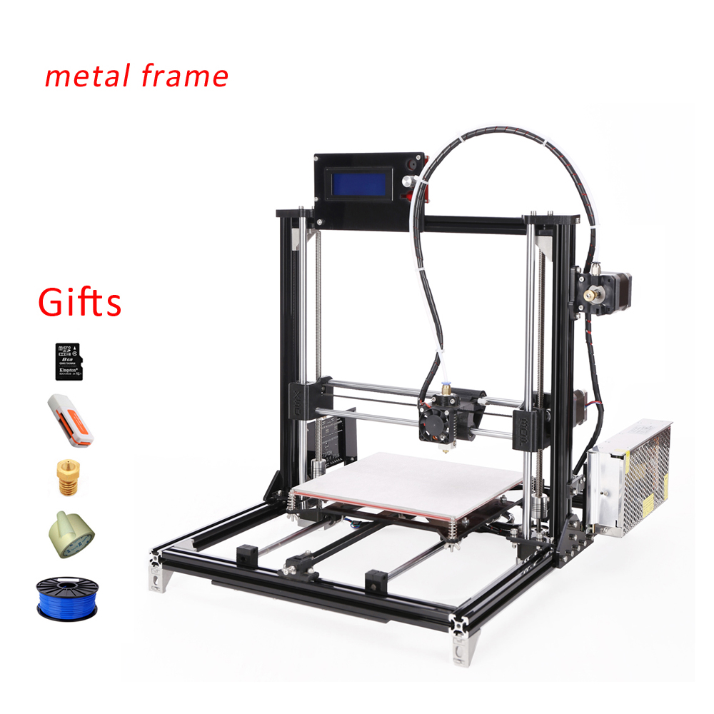 2016 New Metal Prusa i3 3d Printer Kit,3d printer for sale With 2 Rolls Filament For Free