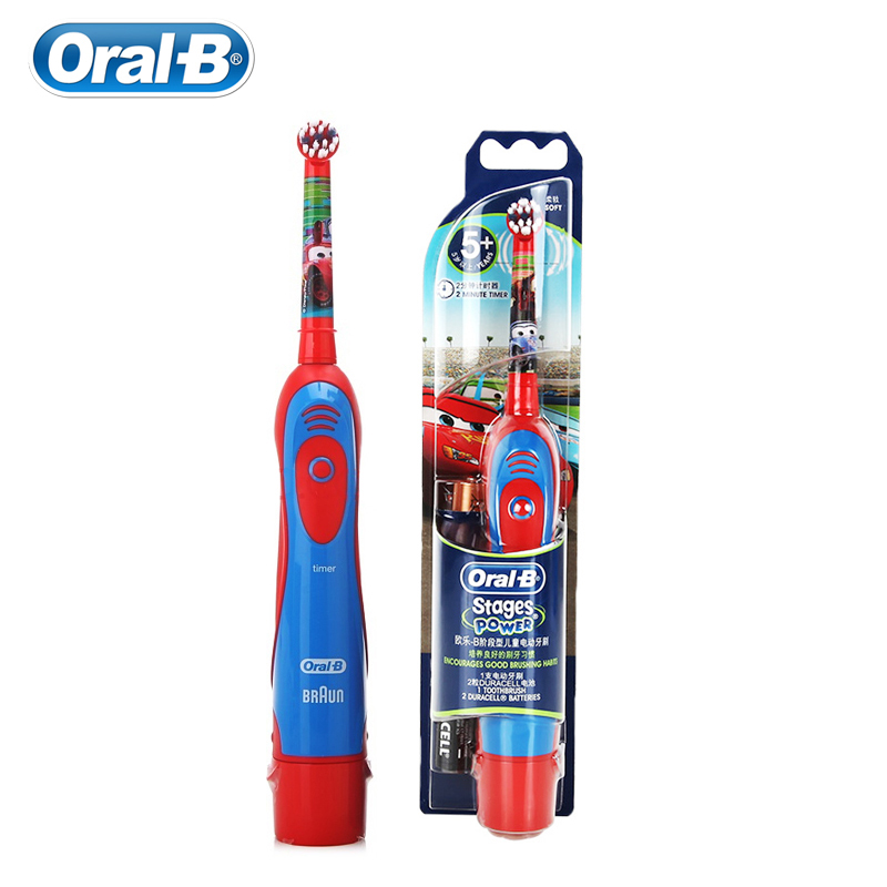 Oral B Electric Toothbrush For Kids Soft Bristle Gum Care Special For Children Powered By AA Baterry Replaceable Brush Head image