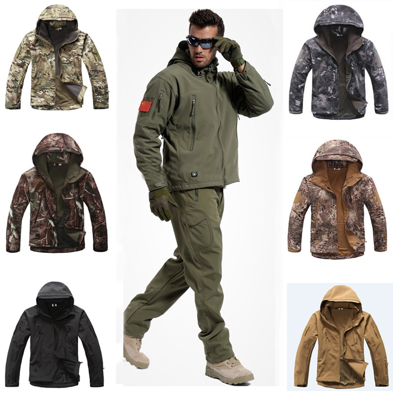 ProClimate Mens Camouflage Waterproof Rain Suit Hooded Hunting Jacket /& Trousers