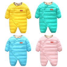 Vinnytido Winter Baby Rompers 90% white duck down Boy Girl Warm Snowsuit BabyJumpsuit Newborn Baby Clothes все цены
