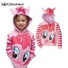 2019 New Spring Autumn My Girls Coats Cute Hooded Boys Jackets Little Children Outerwear Kids Clothes Cartoon Pony Girl Jackets(China)