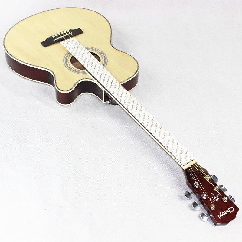 Guitare acoustique électrique acier-String mince corps aplatir Balladry Folk Pop 40 pouces Guitarra 6 cordes lumière rouge coupé Electro