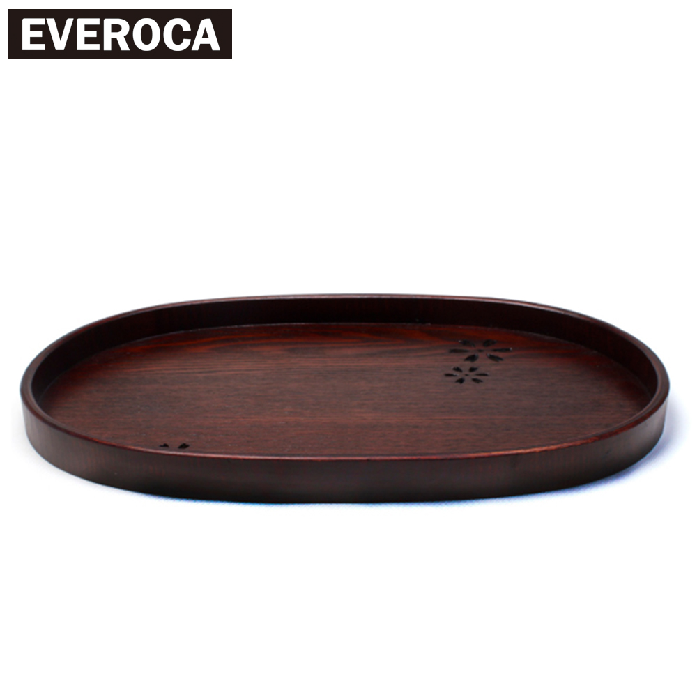 Japanese Solid Wood Series Tea Tray Cherry Hollow Solid Wood Tea Tray Fruit Plate Kung Fu