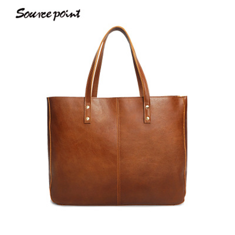 SOURE POINT Genuine Leather Bags Ladies Handbags Casual Tote High Quality Women Bags Large Capacity Female Fashion bolsa YD-8050