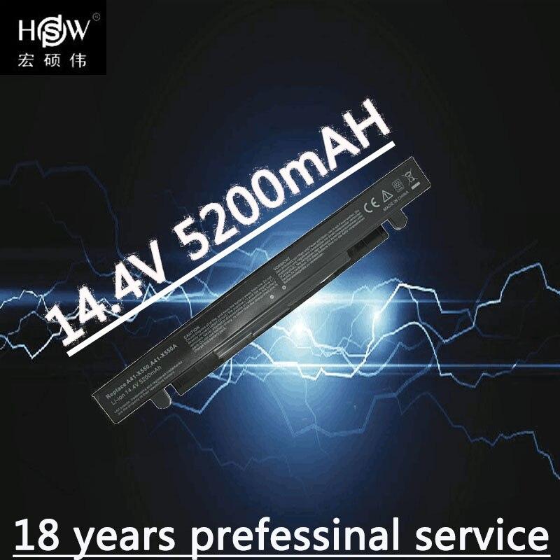 HSW Batterie D'ordinateur Portable pour ASUS A41-X550 A41-X550A A450 A550 F450 F550 F552 K450 K550 P450 P550 R409 R510 X450 X452C x550