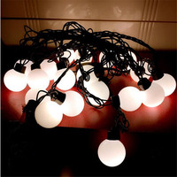 2017 New Outdoor Lighting 4cm Big Size LED Ball String Lamps Black Wire Christmas Lights Fairy