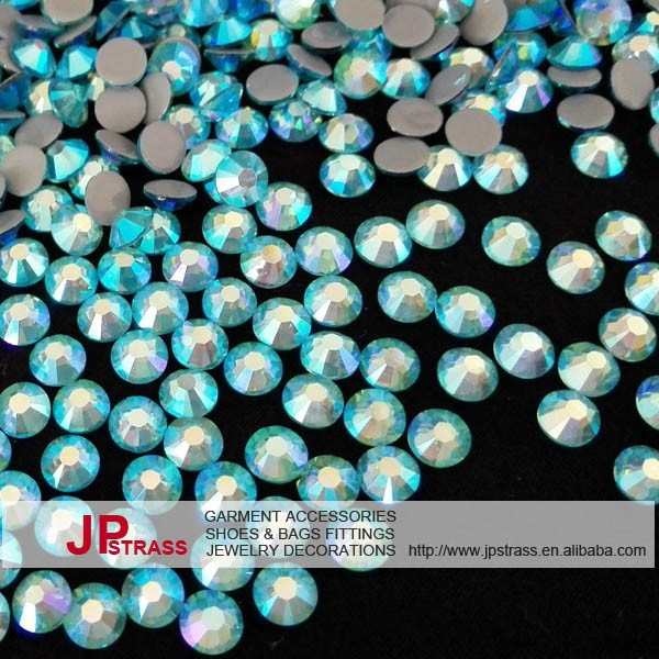 ss20 aquamarine ab of high quality hot fix crystal loose crystal rhinestones 1440 pcs per pack free shipping