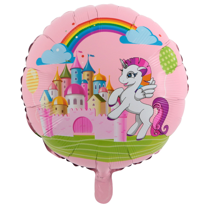 5pcs/lot 18inch Rainbow Unicorn Horse Foil Balloons Birthday Party Baby Shower Supplies Kid Gifts Horse Animal party Toys Globos