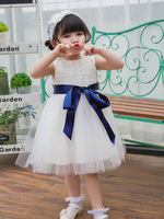 Newborn Baby Girl Baptism Dresses Frock Designs Wedding Birthday Party Dress With 5 Colors Ribbons Belt