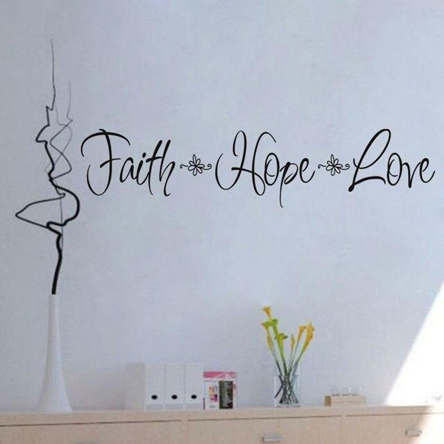 CaCar Faith Hope Love Wall Decorations Living Room Modern Design Waterproof Removable Vinyl Art Wall Sticker  sc 1 st  AliExpress.com & CaCar Faith Hope Love Wall Decorations Living Room Modern Design ...
