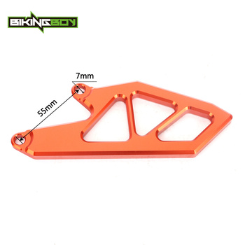 BIKINGBOY CNC Billet Front Sprocket Chain Cover Guard Protecter fit for KTM SX-F 250 SXF 250 SX250F 2011 11 Orange / Silver