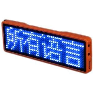Image 5 - Blueteeth led 이름 네온 signtag 명함 화면 디지털 충전식 id 레스토랑 숍 사무실 app 제어 보드 11*44