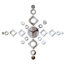 Новинка, хит продаж, современный дизайн, diy 3D зеркальные кварцевые часы, настенные часы, наклейки, украшение дома, Декор часов для гостиной