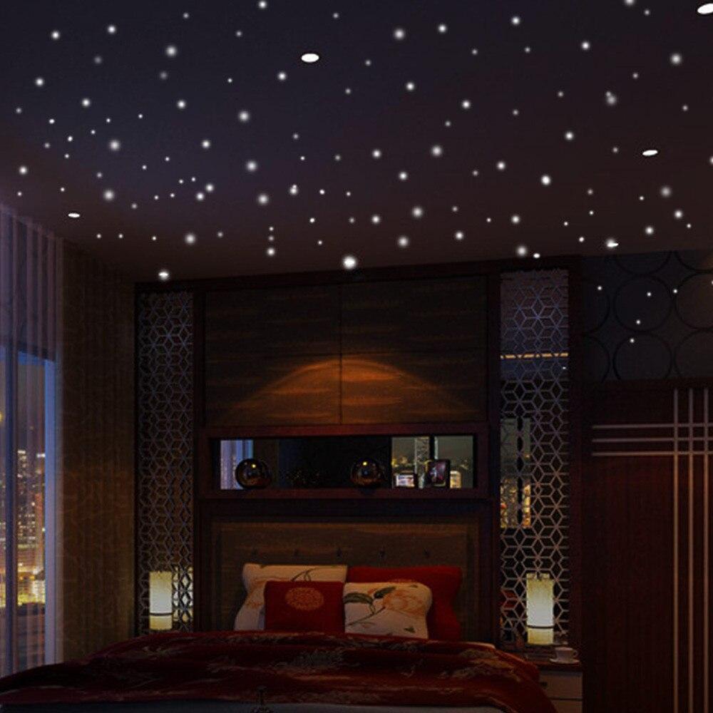 Us 1 16 18 Off Glow In The Dark Star Lights Wall Stickers 407pcs Round Dot Luminous Kid Room Decor Pegatinas Paredes Decoracion Dormitorio Xtt In
