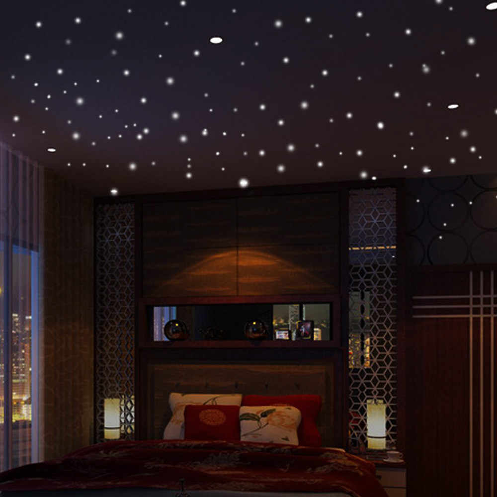 Detail Feedback Questions About Glow In The Dark Star Lights Wall Stickers 407pcs Round Dot Luminous Kid Room Decor Pegatinas Paredes Decoracion Dormitorio