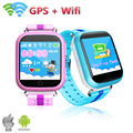 Q100 GPS Inteligente telefone do Relógio Do Bebê Dos Miúdos Relógios Inteligentes GPS Localização Wifi Tela Sensível Ao Toque de Chamada SOS Rastreador Anti-Lost Dispositivo PK Q50 Q90
