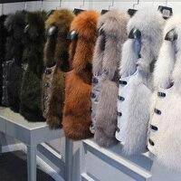 FXFURS натуральный Лисий мех шуба дизайн Дамская зимняя шуба из натурального Лисьего меха Съемная шуба из натурального меха женская короткая