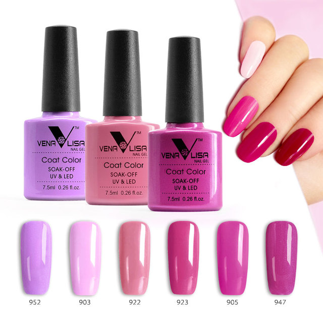 VENALISA 60 Colors Gel Polish CANNI Factory Gel Nail Art Salon Soak off UV LED Nail Gel Polish Pearl Bright Color Lacquer