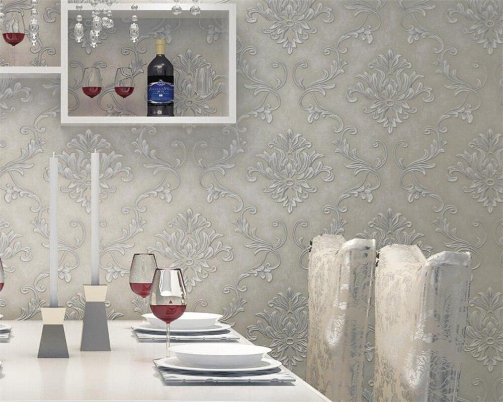 Beibehang 3D papier peint moderne style européen épaissi non-tissé papier peint 3D salon chambre TV canapé fond papier peint