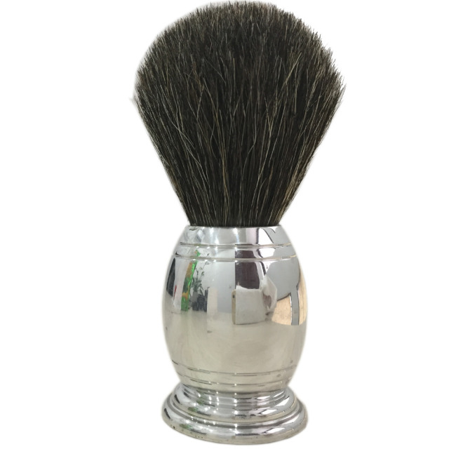Men Badger Hair Shaving Brush Male Face Beard Stainless Steel Shaving Cleaning Brush