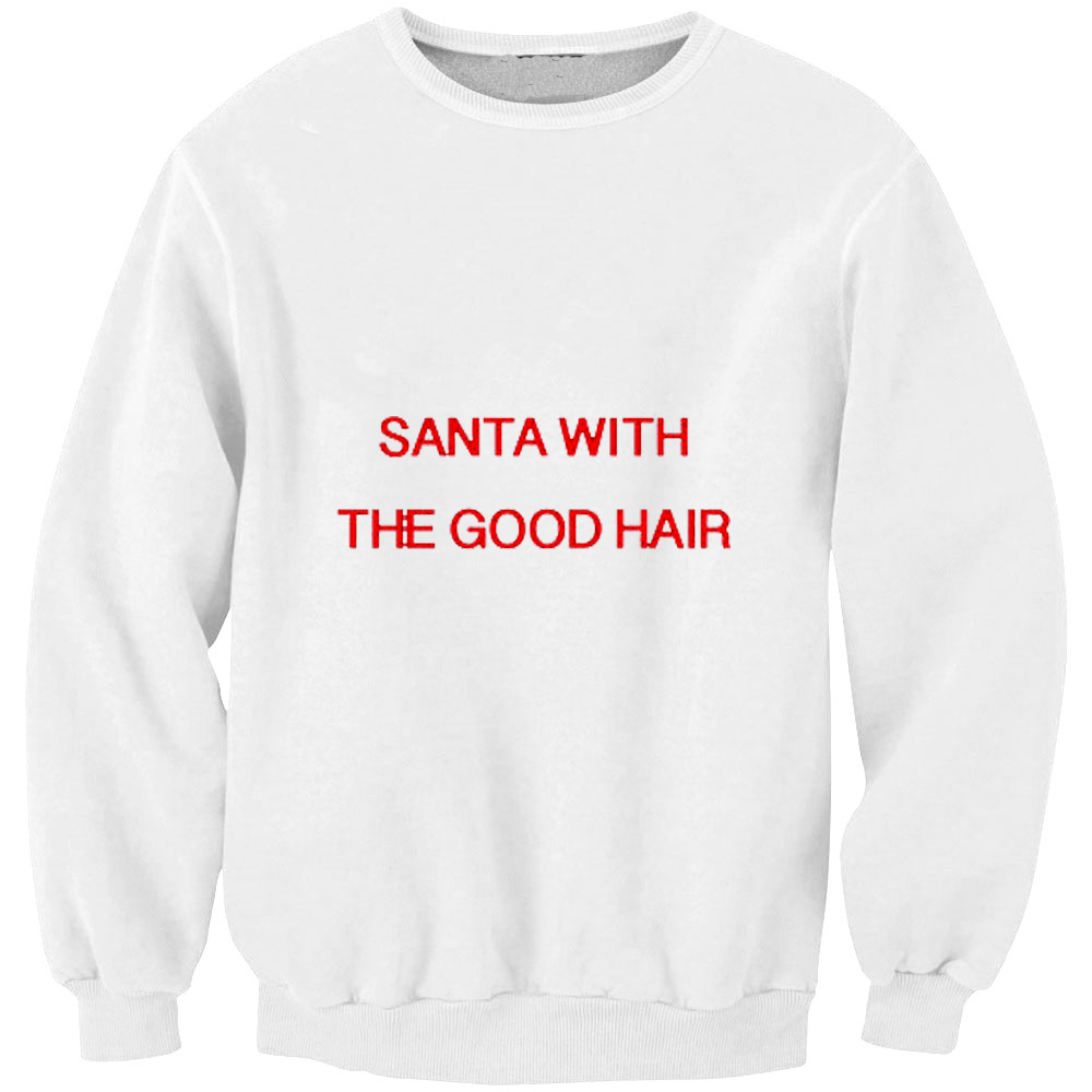 Inventive Men Hoodies Santa With The Good Hair Holidays Christmas Plus Size Male Sweatshirt Oversized Loose Jumpers Cool Coat Mq-f61165 Rapid Heat Dissipation Men's Clothing