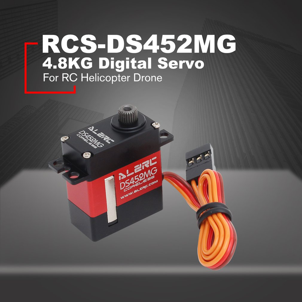 ALZRC RCS-DS452MG CCPM 4.8V-7.4V 4.8KG Large Torque Digital Servo For RC Helicopter Drone Aircraft Parts AccessoriesALZRC RCS-DS452MG CCPM 4.8V-7.4V 4.8KG Large Torque Digital Servo For RC Helicopter Drone Aircraft Parts Accessories