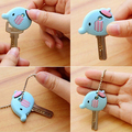 Silicone Key Ring Cap Head Cover Chain Cap Phone Strap Cartoon Animals Key Set 9PZZ