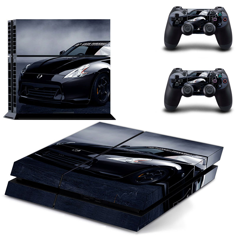 Decal PS4 Skin of Sport Car Vinyl Decal PS4 Stickers Wrap for Sony Play Station 4 Console and 2 Controllers Decorative Skin