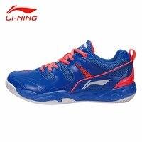 Li Ning Men Anti Slip Badminton Training Shoes Stable Wear Resistance Sneakers Li Ning Cushion Breathable
